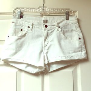 Citizens of Humanity denim shorts white 26